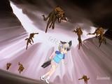 コヨーテの群れに襲われるゴマちゃん