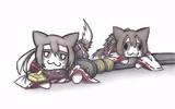軍刀が気に入った伊勢猫と日向猫