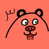 液状化した熊と化した梅豚アイコン素材