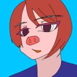 涼しげな梅豚アイコンCB