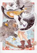 魔理沙とオオワシ霊