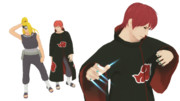 【MMDナルト】デイダラ/ふぐ/オビト/サソリ【モデル更新】