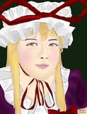 八雲紫コスした時の肖像画