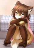 待ちくたびれた狐っ娘