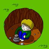 穴底の少年