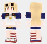 コロンビア アズールレーン Minecraft Skin