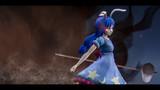 戦場の青い花