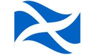 たなびくスコットランド国旗