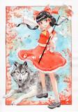 霊夢とオオカミ霊