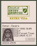 シスター・クレアさんのパスポート(のようなもの)