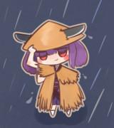梅雨も笠でばっちりたん