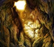 洞窟に差す光