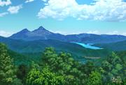 初夏の白布峠からの磐梯山