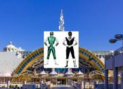 グリーンフラッシュとブラックマスクがサンリオピューロランドに現れたのだ!