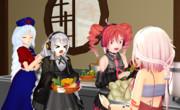 夕食:女子会①