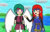 天使勇者と少女