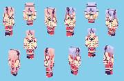 【Minecraft】鳴花ヒメ・ミコト:ボカロ衣装【Alex】