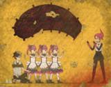 【壁画】大型の虫と赤霧