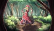 木漏れ日に踊る