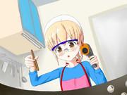慎重に料理する!
