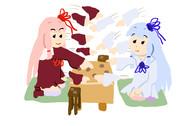 リアルタイムバトル将棋をする琴葉姉妹