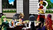 命蓮寺で昼飯、進む箸