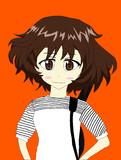 秋山優花里をカッコよく描いてみた。