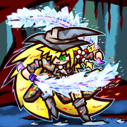 傭兵の双刀+結晶魔力の武器