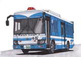 新型エルガミオの人員輸送車