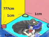 長方形ABCDの辺を秒速1cmの速さで動く天子P