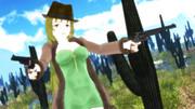 【第3期MMD銃聖戦】銃聖西部劇玲霞さん、第一試合採用版