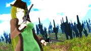 【第3期MMD銃聖戦】銃聖西部劇玲霞さん・横から決め!
