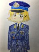 Kék katonai egyenruha Yunotchi