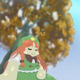 木陰で休む美鈴