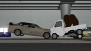 対向車線の一般車と正面衝突