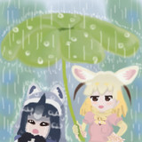 雨なのだ!
