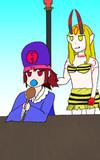 紅小閻魔とジョルジュ茨木