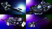 スターラスターガール 辺境宙域調査艦モデル