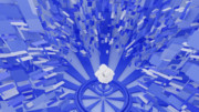 アブストラクト的な青
