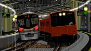 【MMD鉄道】さようなら201系大阪環状線