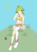 草原にくつろぐGUMIちゃん