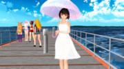 陽射しの強い日は日傘をさして
