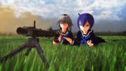 【MMD】セーラー服と機関銃