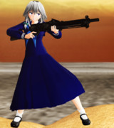 【MMD】セーラー服と機関銃 其の二