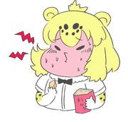 カラムーチョを食べるジャガーちゃん