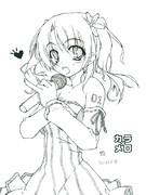 初描きミク・ラフ(カラメロVer)
