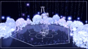 ステージ配布 六角绣球花台