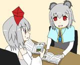 勉強するヒサカちゃん