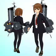 【MMDモデル更新】SSR式 艤装つき若葉改ver1.20+