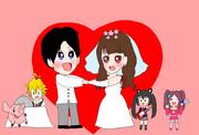 竹達さんと梶さんご結婚おめでとうございます